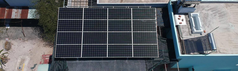 Thiết kế, cung cấp vật tư và thi công lắp đặt hệ thống điện năng lượng mặt trời hòa lưới có lưu trữ nhà Anh Tuấn- Hòa Tiến